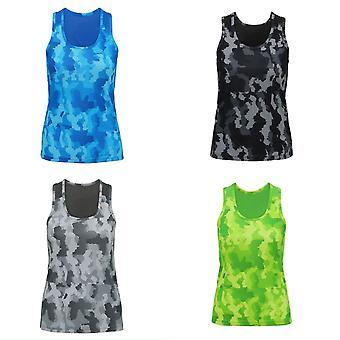 Tri Dri Womens/Ladies Hexoflage Performance Sleeveless Vest