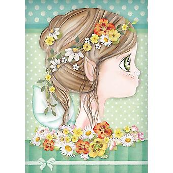Stamperia Rice Paper Sheet A4-Daisy Fairy