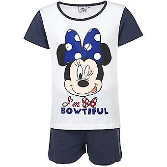 Disney minnie girls pyjama set white