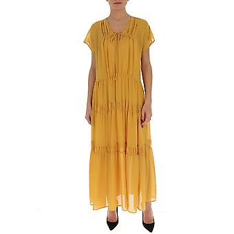 See By Chloé Chs20uro07025745 Women's Yellow Cotton Dress