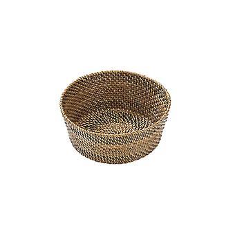 Bastian Brødkurv rund lys/mørkebrun - 15 cm