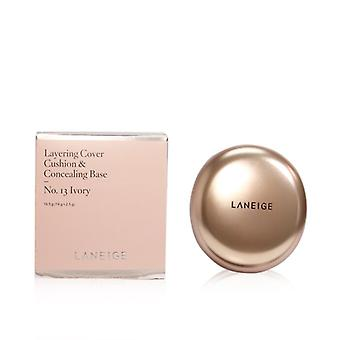 Laneige Layering Cover Cushion & Concealing Base - No. 13 Ivory - 16.5g/0.55oz