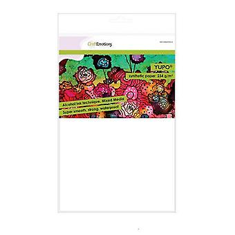 CraftEmotions craft paper clay red 10 Sh 27x13,5cm 220GR