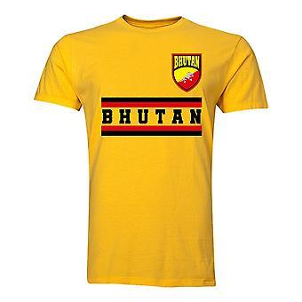 Bhutan Core Fodbold Land T-shirt (gul)