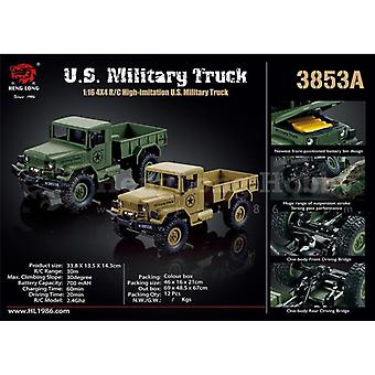 Heng Long RC Military Truck 1:16, 4X4, Rubber Tires, Shock absorber, Painted