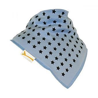 Blue & grey stars bandana bib