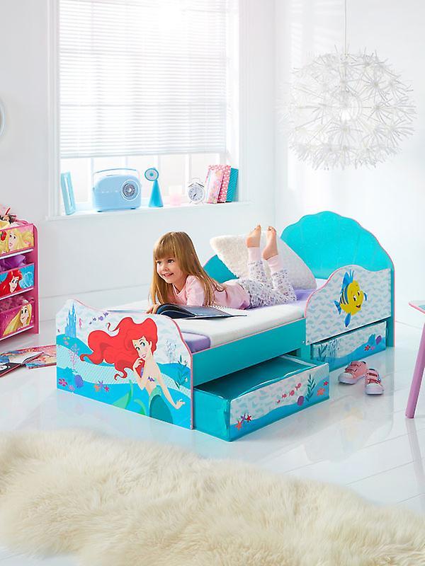 Disney Princess Ariel Tout-petit lit avec matelas en mousse et de stockage