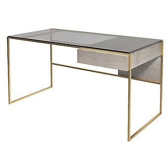 Gillmore Luxe - Desk With Drawer In Various Oak Stains And Frame Finishes