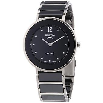 Boccia 3209-03-wristwatch, ceramics, color: black