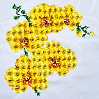 VDV Bead Embroidery Kit - Yellow Orchid