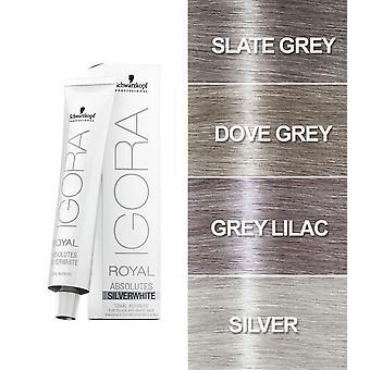 Schwarzkopf Igora Royal Silver White Hair Toner 60ml (Grau fliederisch)