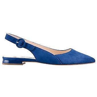 Hogl vrolijke blauwe lage hakken womens blauw