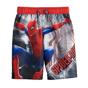 Marvel Spider-Man oscillare in azione giovani swim trunks