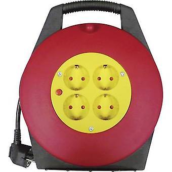 Basetech BT-1890358 بكرة كابل 10.00 م أسود PG المكونات