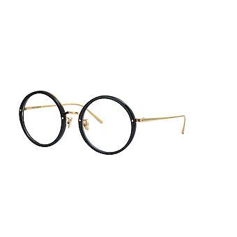 Linda Farrow Tracy LFL239 C1 Black Yellow Gold Glasses