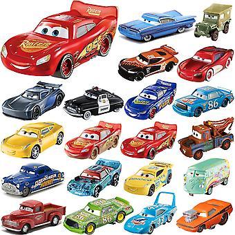 4-Pack Disney Pixar Cars Cars 1:55 Basics Collection 7-10cm Plastic