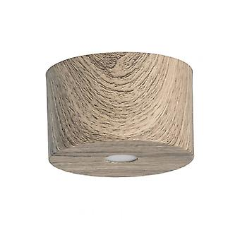 Techno Brown Ceiling Light 1 Bulb 8 Cm