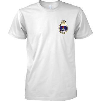 HMS Sabre - aktuelle königliche Marineschiff T-Shirt Farbe