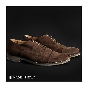 SB 3012 - Shoes - Lace-up shoes - 1003-CAMOSCIO-B-MARRONE - Men - saddlebrown - EU 41