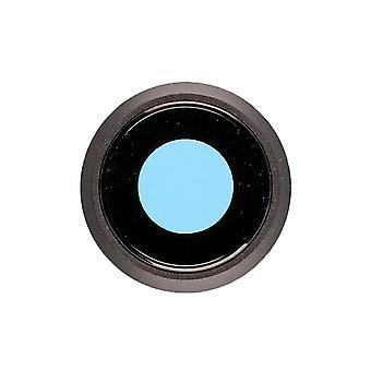 svart bakkameraholder med linse for iPhone 8 |iParts4u