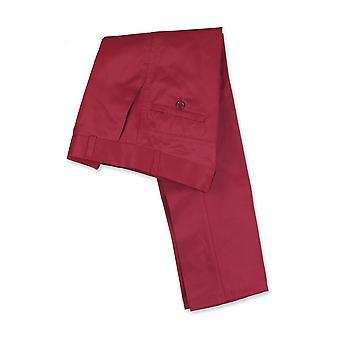 デザイナーの男の子スリム フィット ストレート脚赤ブルゴーニュ チノ パンツ