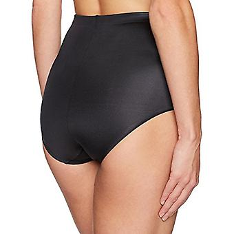 Brand - Arabella Women's Shine Microfiber Brief met Spacer, Black, Sm...