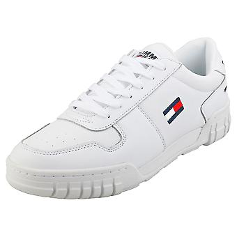 Tommy Jeans Essential Retro Sneaker Mens Casual Trainers in White