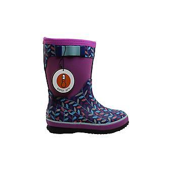 Northside Girls' NEO Rain Boot Navy/Purple 10 Medium US Toddler