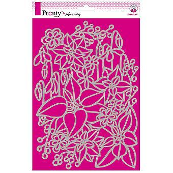 Pronty Handwerk Inter Blumen A4 Schablone