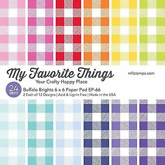 My Favorite Things Buffalo Brights 6x6 Inch Paper Pad