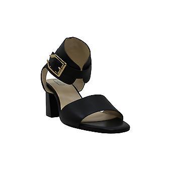 Cole Haan Naisten Avani nahka lohko kantapää mekko sandaalit musta 10 medium (B,M)