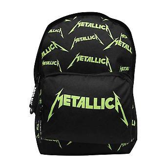 Metallica Kids Mochila Drip Band Logo Allover nuevo Oficial Negro