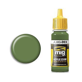 Ammo by Mig Acrylic Paint - A.MIG-0003 RAL 6011 Resedagrun (17ml)