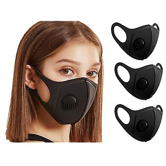 3X Face Mask Cloth with breathing valve, Washable Mouth Guard