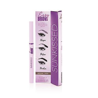 Sunkissed Easy Brow 2 in 1 Brow Pencil with Spoolie Brush Medium - Dark 0.22g Brow Pencil