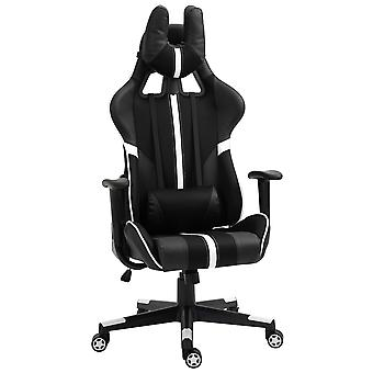 Vinsetto Racing Gaming Chair Reclining Swivel Chair Adjustable Height w/ Head Back Pillow Support Wheels White