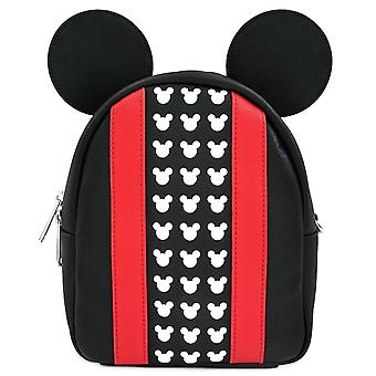 Loungefly X Disney Mickey Mouse Black/red Convertible Mini Backpack