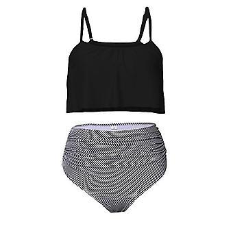 Amo & Co ohut olkahihnat ryppyinen röyhelö sato korkeavyötäröinen bikinit uida...