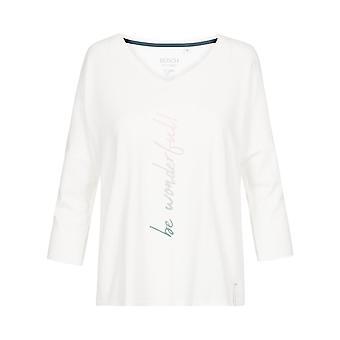 Rösch être heureux! 1202100-11727 Femmes-apos;s Crème Pyjama Top