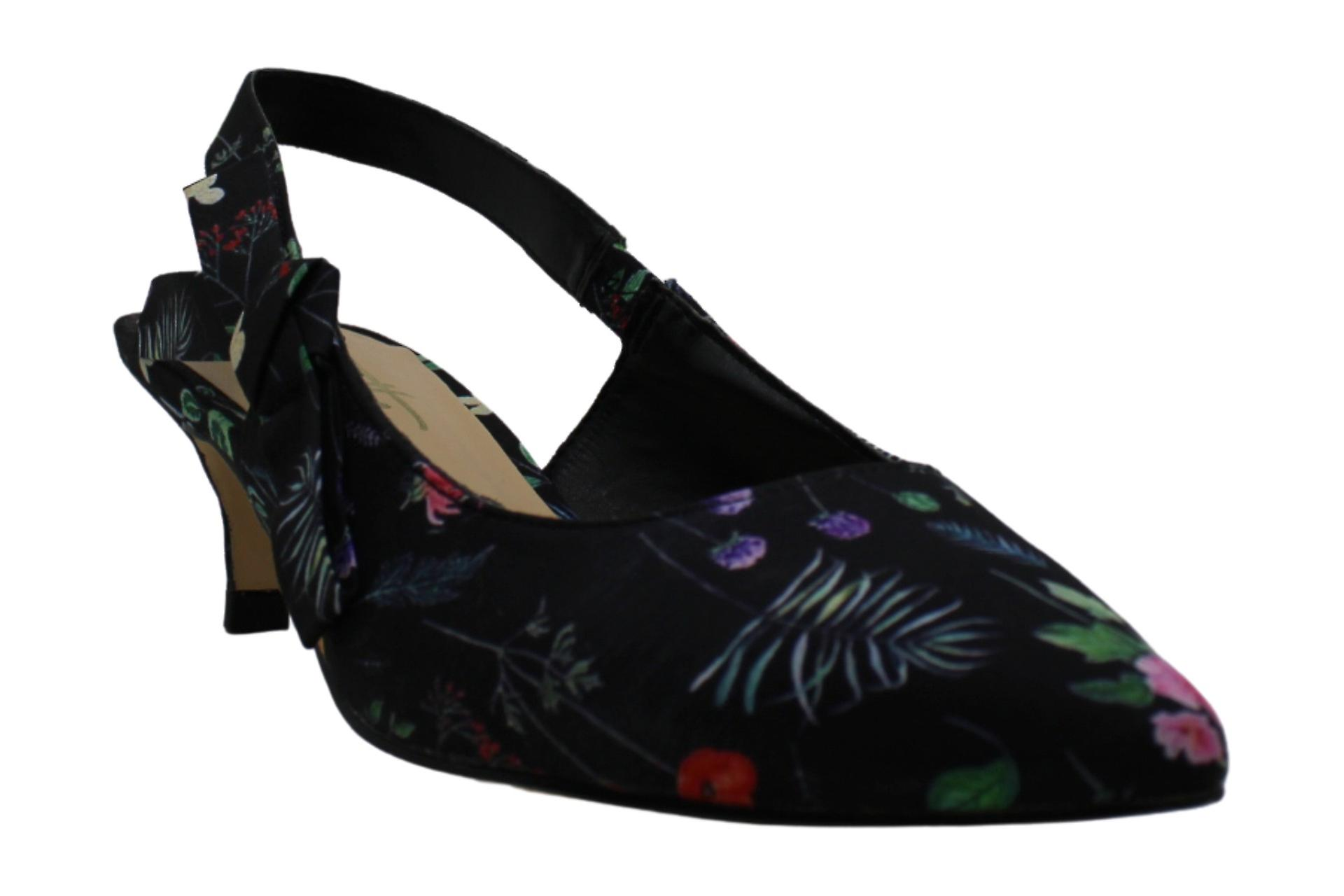 Nanette Lepore Womens Rhona Fabric Pointed Toe SlingBack D-orsay Pumps