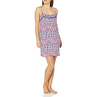 Brand - Mae Women's Sleepwear Pom Trim Chemise Nightgown, Color Burst,...