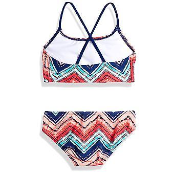 Kanu Surf Big Girls' Karlie Flounce Bikini Beach Sport 2-Piece Swimsuit, Kirs...