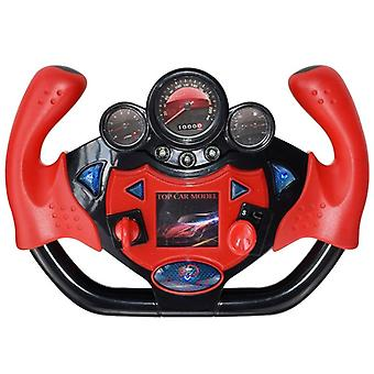 Electric Simulation Steering Wheel Toy With Light And Sound