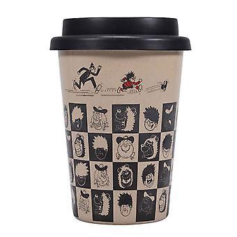 Beano Travel Mug Pattern Dennis Gnasher Logo new Official
