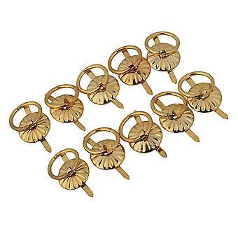 10pcs Mini Golden Cabinet Round Drop Pull Ring Handles