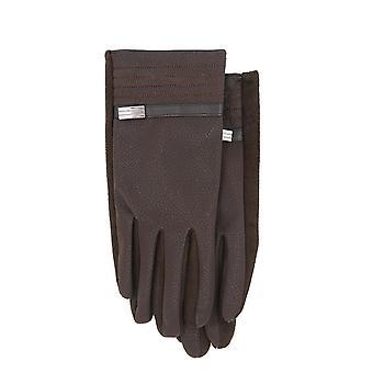 Handskar i läderimitation Brun