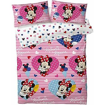 Minnie Mouse Hearts Duvet Cover Set