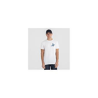 New Era Mlb Los Angeles Dodgers Print Logo White T-shirt