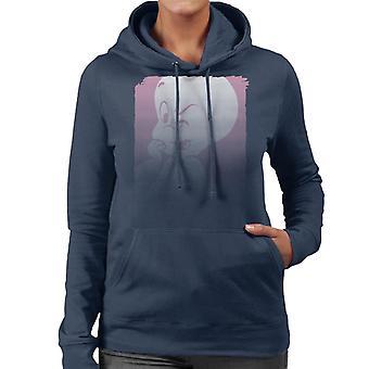 Casper The Friendly Ghost Winking Fade Women's Hooded Sweatshirt