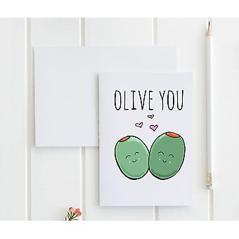 Olive You - Greeting Card